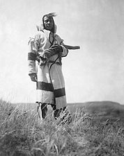 Piegan Indian Scout Edward S. Curtis 1910 Photo Print for Sale