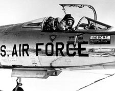 Pilot Chuck Yeager in F-104 Cockpit Photo Print for Sale