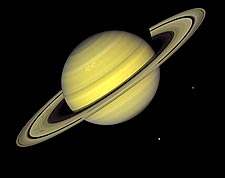 Planet Saturn Voyager 1 Photo Print for Sale