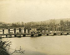 Pontoon Bridge at Ch�teau-Thierry in France WWI Photo Print for Sale