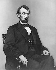 President Abraham Lincoln Seated Portrait Photo Print for Sale
