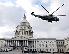 Marine Helicopter at Capitol After Obama Inauguration Photo Print for Sale