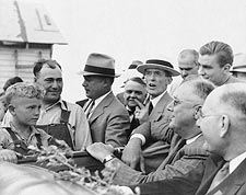 President Franklin Roosevelt w/ Farmer Photo Print for Sale