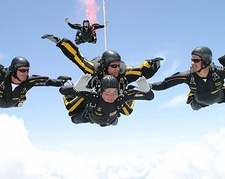 President George Bush 80th Birthday Skydive Photo Print