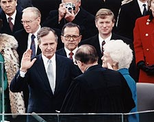 President George Bush Oath of Office 1989 Photo Print for Sale