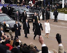 President George W Bush in Inaugural Parade Photo Print for Sale