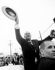 President Lyndon Johnson 1964 Campaign Stop Photo Print for Sale