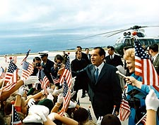President Nixon Greeting the Public Photo Print for Sale