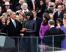 President Obama Takes Oath of Office 2013 Photo Print for Sale