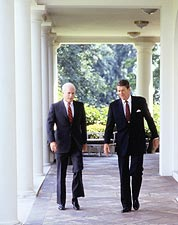 President Ronald Reagan & John McCain Photo Print for Sale