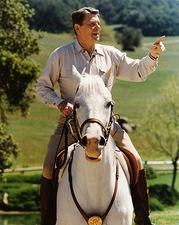 President Ronald Reagan on Horseback Photo Print