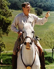 President Ronald Reagan on Horseback Photo Print for Sale