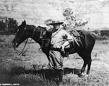President Theodore Roosevelt w/ Horse, 1910 Photo Print for Sale