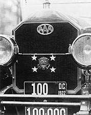 President Warren G. Harding Car w/ AAA Logo Photo Print for Sale