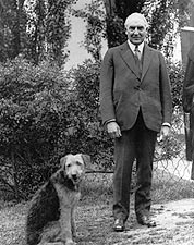President Warren Harding & Dog 'Laddie Boy' Photo Print for Sale