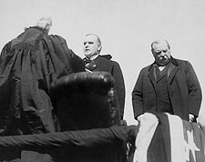 President William McKinley Taking Oath of Office 1897 Photo Print for Sale