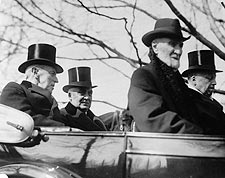 President Wilson & Harding in Convertible Photo Print for Sale