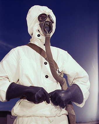 Prototype Gas Mask & Protective Gear 1942 Photo Print
