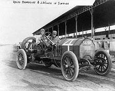 Ralph Beardsley and J.D. Coote in Simplex Automobile Photo Print for Sale