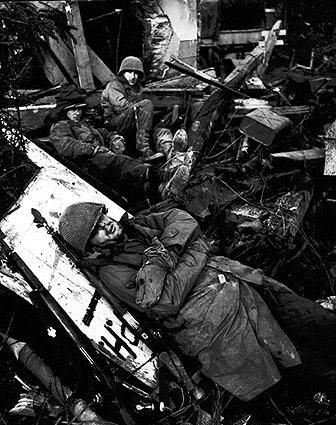 Rhone River Valley WWII Damage US Soldiers Photo Print