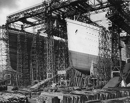 RMS Olympic & Titanic Ocean Liners 1909 Photo Print