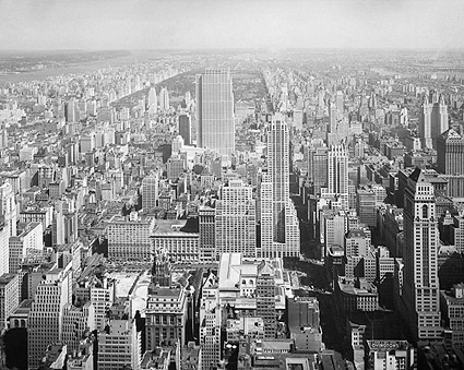 Rockefeller Center, Central Park NYC Aerial 1933 Photo Print