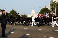 Ronald Reagan Funeral Procession w/ Capitol Photo Print for Sale