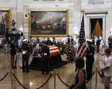 Ronald Reagan Funeral U.S. Capitol Viewing Photo Print for Sale
