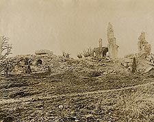 Ruins in Montfaucon, France WWI Photo Print for Sale