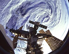 Russian Mir Space Station Indian Ocean NASA Photo Print for Sale