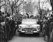 Santa Claus in Christmas Parade 1950s Photo Print for Sale