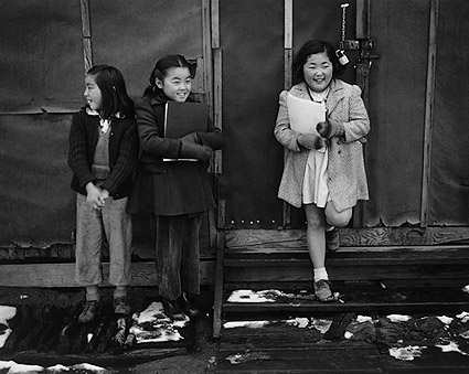 Schoolgirls at Manzanar Japanese Internment Camp WWII Photo Print