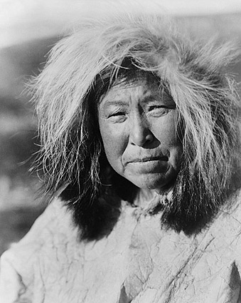 Selawik Indian Woman Edward S. Curtis Photo Print