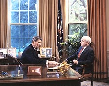 Senator John McCain w/ Ronald Reagan Photo Print for Sale