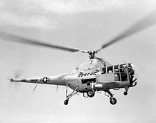 Sikorsky H-5 Dragonfly Helicopter in Flight Photo Print for Sale