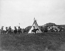 Sioux Indians & Teepee, Edward S. Curtis Photo Print for Sale