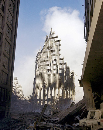 South Tower Ruins WTC New York 9/11 Photo Print