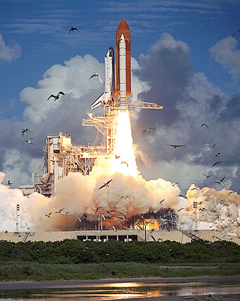 space shuttle endeavour night launch - photo #35