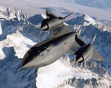 SR-71 Blackbird in Flight Photo Print