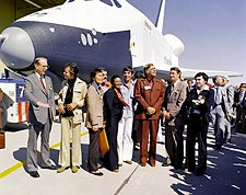 Star Trek Cast Space Shuttle Enterprise Photo Print for Sale