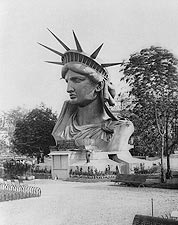 Statue of Liberty Head in a Paris Park 1883 Photo Print for Sale