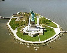 Statue of Liberty New York City  Aerial Photo Print for Sale