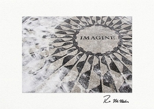 """Personalized Strawberry Fields """"Imagine,"""" Central Park Holiday Cards"""