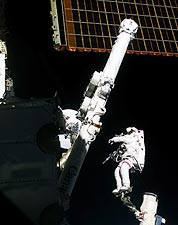 STS-100 Astronaut Chris Hadfield Space Walk Photo Print for Sale