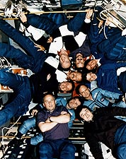 STS-71, Mir-18 & Mir-19 Crewmembers Photo Print for Sale