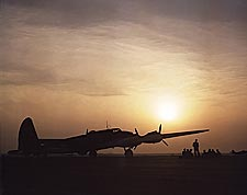 Sunset Silhouette of B-17 Flying Fortress Photo Print for Sale