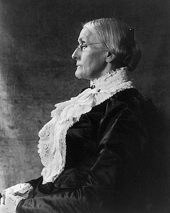 Susan B. Anthony Seated Profile Portrait Photo Print