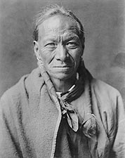 Taos Indian White Clay Edward S. Curtis Photo Print for Sale