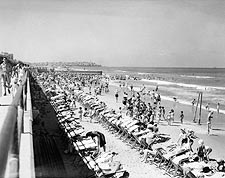 Tel Aviv Israel 1940s Bathing Beach Photo Print for Sale
