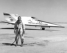 Test Pilot Bill Dana w/ X-24B / X-24 Photo Print for Sale